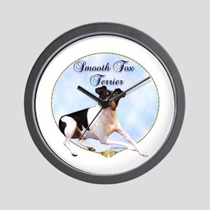 Smooth Fox Portrait Wall Clock