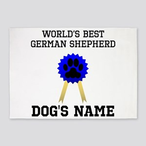 Worlds Best German Shepherd (Custom) 5'x7'Area Rug