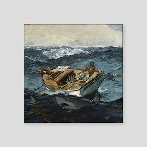 "Wilmslow Homer The Gulf Str Square Sticker 3"" x 3"""