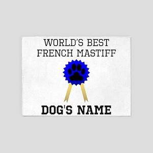 Worlds Best French Mastiff (Custom) 5'x7'Area Rug