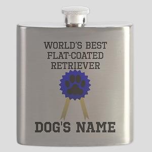 Worlds Best Flat-Coated Retriever (Custom) Flask