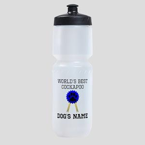 Worlds Best Cockapoo (Custom) Sports Bottle