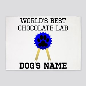 Worlds Best Chocolate Lab (Custom) 5'x7'Area Rug