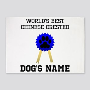Worlds Best Chinese Crested (Custom) 5'x7'Area Rug