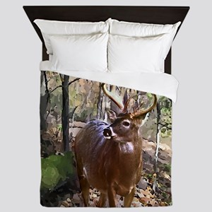 Woodland Buck Deer Queen Duvet
