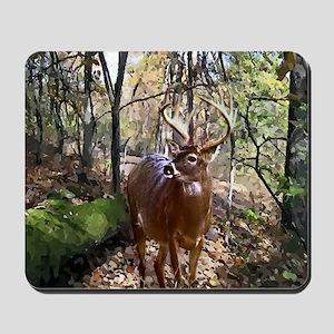 Woodland Buck Deer Mousepad