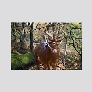 Woodland Buck Deer Rectangle Magnet