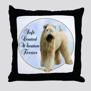 Wheaten Portrait Throw Pillow