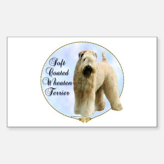 Wheaten Portrait Rectangle Decal