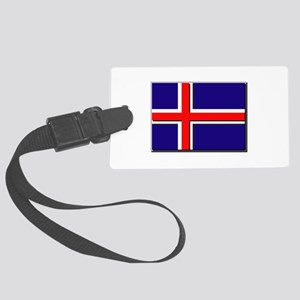 Iceland Flag Large Luggage Tag