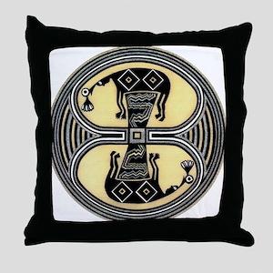 MIMBRES CHIEFS BOWL DESIGN Throw Pillow