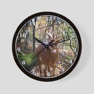 Woodland Buck Deer Wall Clock