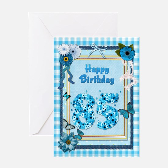 85th Birthday with a scrapbooking theme Greeting C