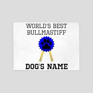 Worlds Best Bullmastiff (Custom) 5'x7'Area Rug