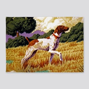 Hunting Dog 5'x7'Area Rug