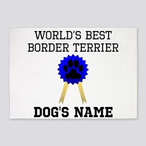 Worlds Best Border Terrier (Custom) 5'x7'Area Rug