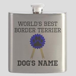 Worlds Best Border Terrier (Custom) Flask