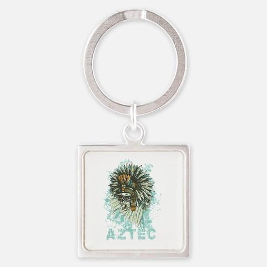 Aztec Square Keychain