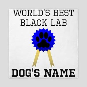 Worlds Best Black Lab (Custom) Queen Duvet