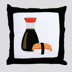 Soy Sushi Throw Pillow