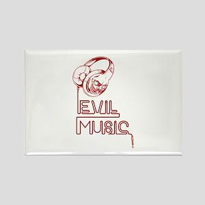 Evil Music Rectangle Magnet