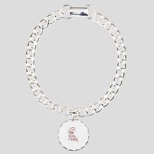 Evil Music Charm Bracelet, One Charm