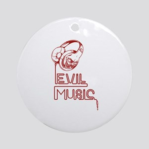 Evil Music Ornament (Round)