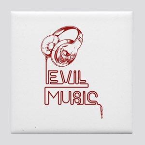 Evil Music Tile Coaster