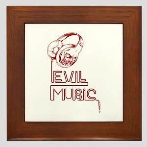 Evil Music Framed Tile