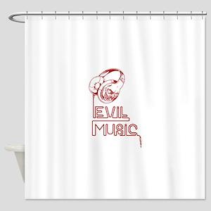 Evil Music Shower Curtain