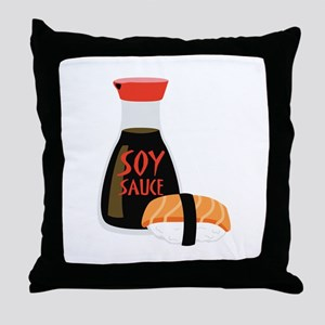 SOY SAUCE Throw Pillow