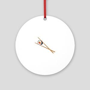 Sushi And Chopsticks Ornament (Round)
