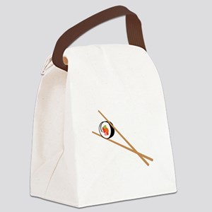 Sushi And Chopsticks Canvas Lunch Bag