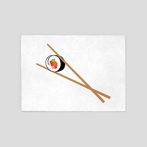 Sushi And Chopsticks 5'x7'Area Rug