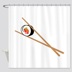 Sushi And Chopsticks Shower Curtain