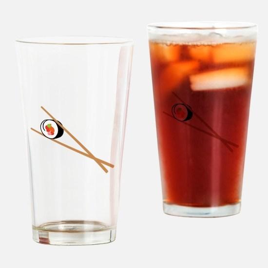 Sushi And Chopsticks Drinking Glass