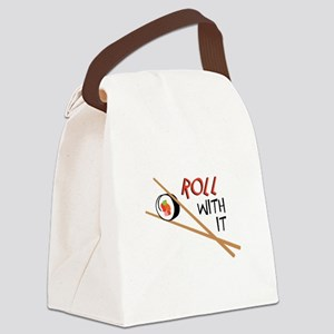 ROLL WITH IT Canvas Lunch Bag