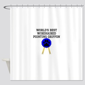 Worlds Best Wirehaired Pointing Griffon Shower Cur