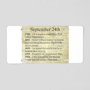 September 24th Aluminum License Plate