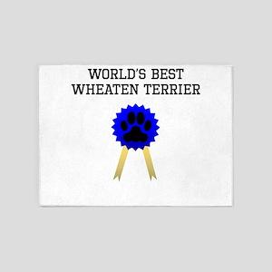 Worlds Best Wheaten Terrier 5'x7'Area Rug
