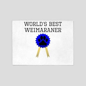 Worlds Best Weimaraner 5'x7'Area Rug