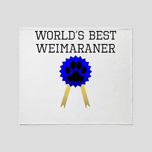 Worlds Best Weimaraner Throw Blanket