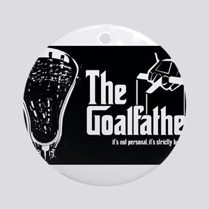 Lacrosse Goalfather Ornament (Round)