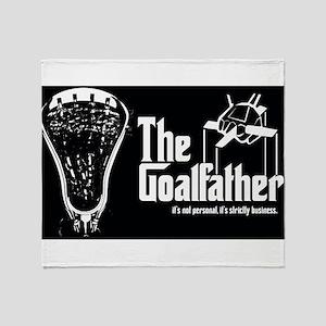 Lacrosse Goalfather Throw Blanket