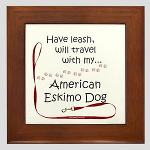 Eskimo Travel Leash Framed Tile