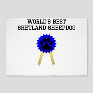 Worlds Best Shetland Sheepdog 5'x7'Area Rug