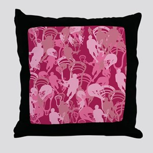 Lacrosse Camo Pink 20XX Throw Pillow