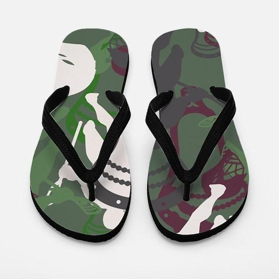Lacrosse Camo Green 20XX Flip Flops