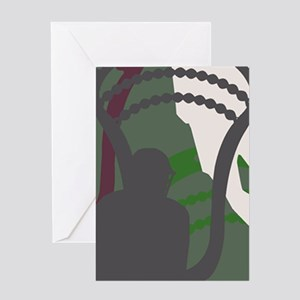 Lacrosse Camo Green 20XX Greeting Cards