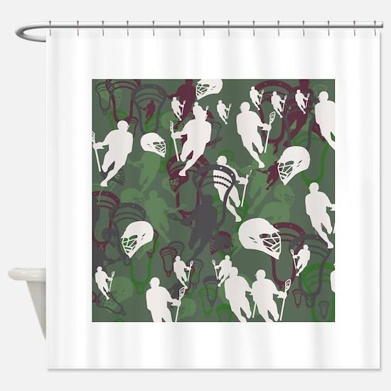 Lacrosse Camo Green 20XX Shower Curtain